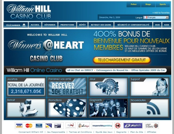 Aperçu William Hill Casino (Bonus & Informations)